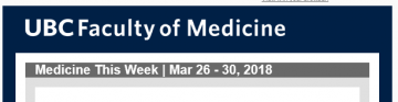 Medicine This Week | Mar 26 – 30, 2018