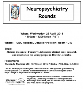 BCNP Grand Rounds Wednesday April 25th
