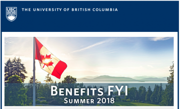 UBC Benefits Email: Benefits FYI Newsletter Summer 2018