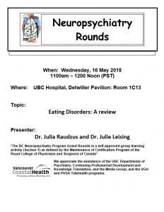 BCNP Grand Rounds Wednesday May 16th