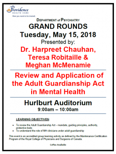 SPH Department of Psychiatry Grand Rounds Tuesday, May 15