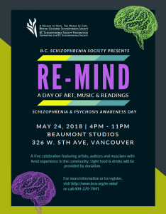 Re-Mind: A Day of Art, Music &  Readings- Schizophrenia & Psychosis Awareness Day