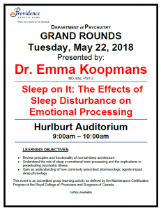 SPH Department of Psychiatry Grand Rounds Tuesday May 22nd