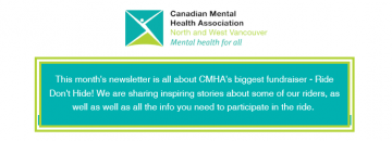 CMHA North & West Vancouver Ride Don't Hide is one month away!