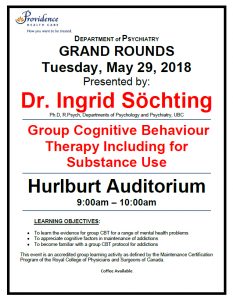 SPH Department of Psychiatry Grand Rounds Tuesday, May 29,