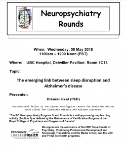 BCNP Grand Rounds Wednesday May 30th