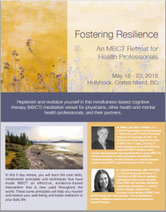 Fostering Resilience MBCT Retreat at Hollyhock – May 2018