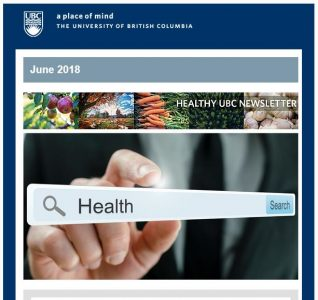 Healthy UBC Newsletter: June 2018