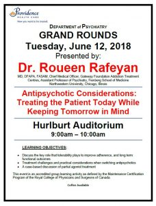 SPH Department of Psychiatry Grand Rounds Tuesday June 12th