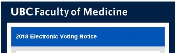 Faculty of Medicine Committee Membership: 2018 Electronic Voting Notice