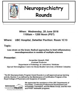 BCNP Grand Rounds Wednesday  June 20th