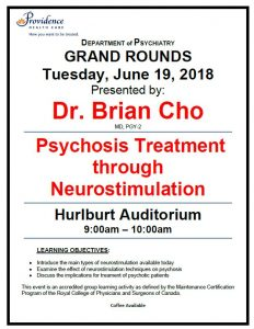 SPH Department of Psychiatry Grand Rounds Tuesday June 19th