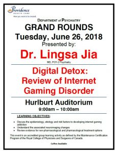 SPH Department of Psychiatry Grand Rounds Tuesday June 26th