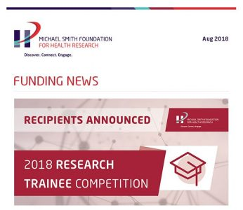 33 post-doctoral fellows funded in MSFHR's 2018 Research Trainee competition