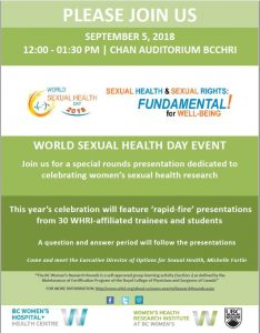 Venue Change Save the Date World Sexual Health Day Event September 5th