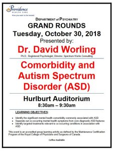 Date Correction: Next Tuesday's SPH Department of Psychiatry Grand Rounds Tuesday, October 30, 2018