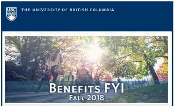 UBC Benefits Email: Benefits FYI Newsletter Fall 2018