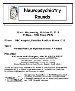 BCNP Grand Rounds Wednesday October 10th