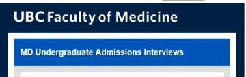 UBC MD Undergraduate Admissions: Interviewers Needed