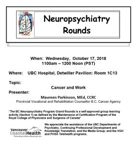 BCNP Grand Rounds Wednesday October 17th