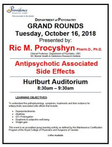 *NEW TIME – 8:30 AM* Next Tuesday's SPH Department of Psychiatry Grand Rounds