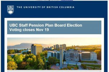 UBC Staff Pension Plan Election – Voting closes Nov 19