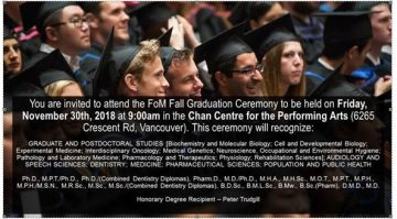 FoM 2018 Fall Graduation Invitation