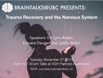 BrainTalks Speaker Series: Trauma Recovery and the Nervous System Tuesday November 27th
