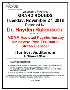 Next Tuesday's SPH Department of Psychiatry Grand Rounds