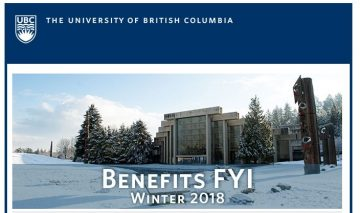 UBC Benefits Email: Benefits FYI Newsletter Winter 2018