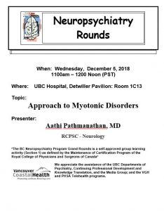 BCNP Grand Rounds Wednesday December 5th
