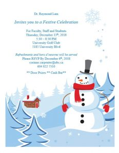 Department  Festive Celebration Thursday December 13th