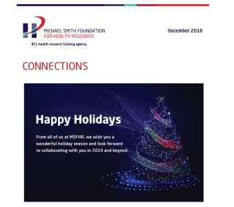 Connections  |  Holiday greetings from MSFHR