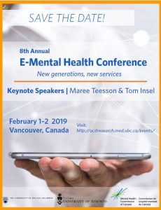 Invitation for 8th E-Mental Health Conference February 1- 2, 2019