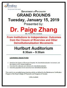 SPH Department of Psychiatry Grand Rounds Tuesday January 15th