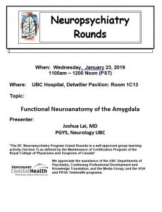 BCNP Grand Rounds Wednesday January 23rd