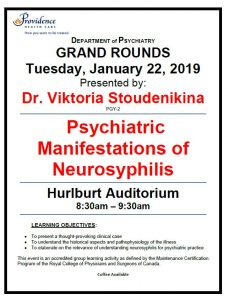 SPH Department of Psychiatry Grand Rounds Tuesday January 22nd