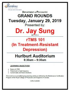 SPH Department of Psychiatry Grand Rounds Tuesday, January 29,