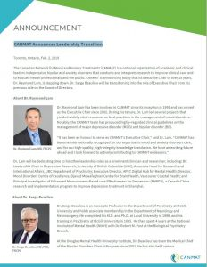 CANMAT Announces Leadership Transition