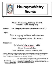 BC Neuropsychiatry Program Grand Rounds Wednesday,  February 20, 2019