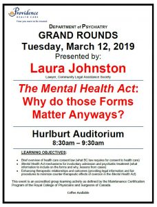 SPH Department of Psychiatry Grand Rounds Tuesday, March 12, 2019