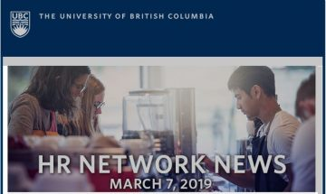 UBC HR Network News (March 7, 2019)