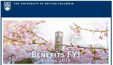 UBC Benefits Email: Benefits FYI Newsletter Spring 2019