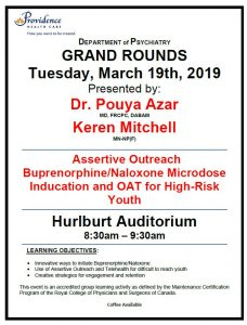 SPH Department of Psychiatry Grand Rounds Tuesday March 19th