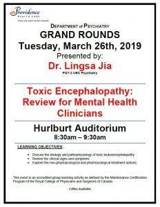 SPH Department of Psychiatry Grand Rounds Tuesday, March 26th,