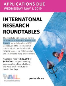 Peter Wall Institute for Advanced Studies International Research Roundtable Awards