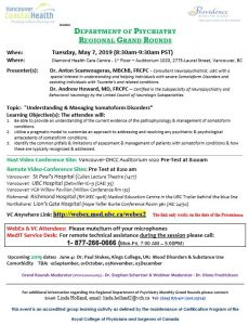 UBD MDC Grand Rounds Tuesday May 7th