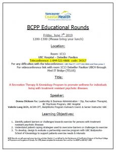 BCPP Educational Rounds