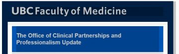 The Office of Clinical Partnerships and Professionalism Update