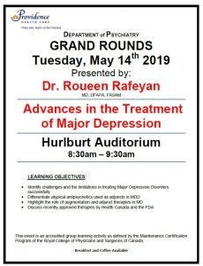 SPH Department of Psychiatry Grand Rounds Tuesday, May 14th
